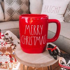 Rae Dunn Red Merry Christmas Mug with Trim NEW HTF